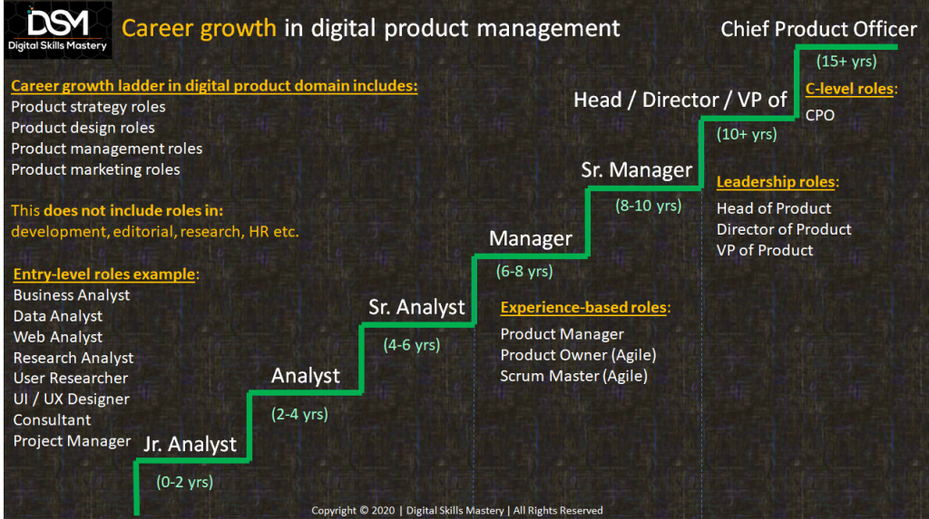Product management career growth ladder
